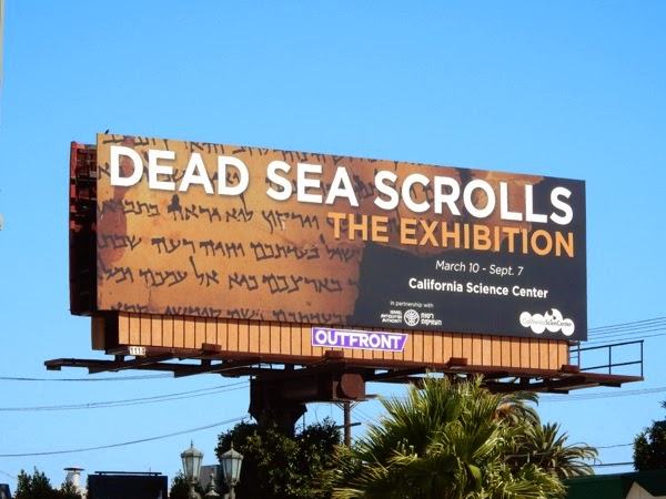 Dead Sea Scrolls Exhibition billboard