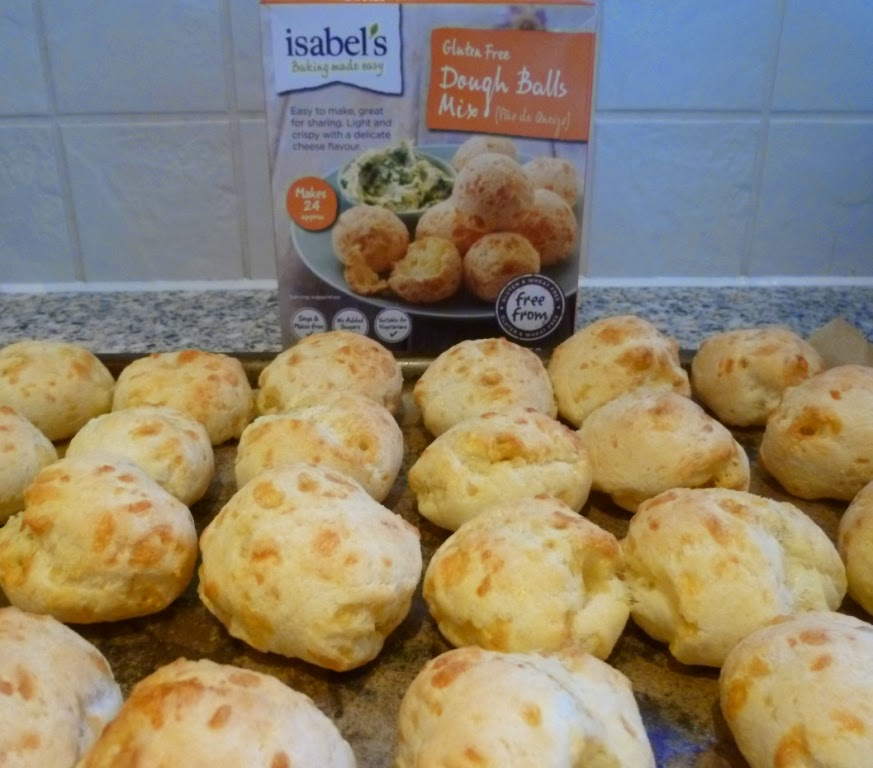 Gluten and wheat free Cheese Dough Balls from an Isabel's Free From mix