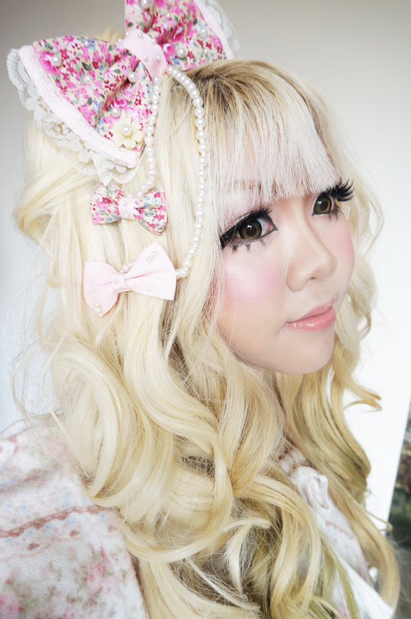 hime gyaru cute hair bow
