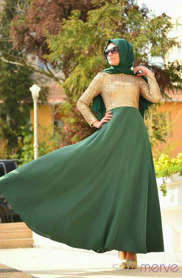 chic turkish hijab dress