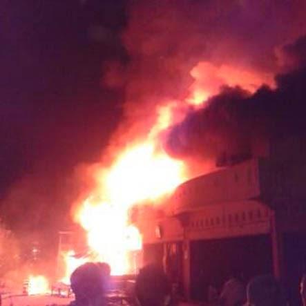 Puluhan kios di Pasar Ukui ludes terbakar