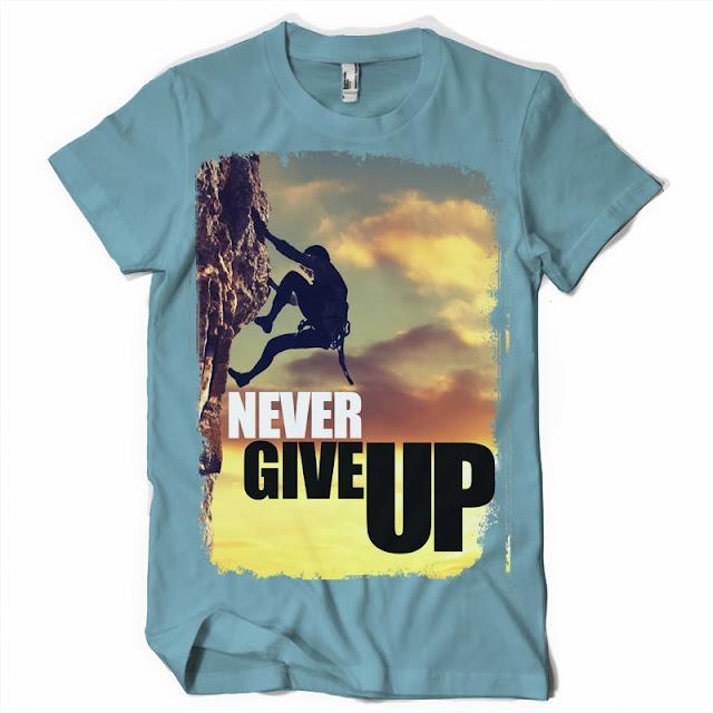 nwever give up tshirt