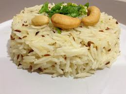 Jeera rice with coriander leaves