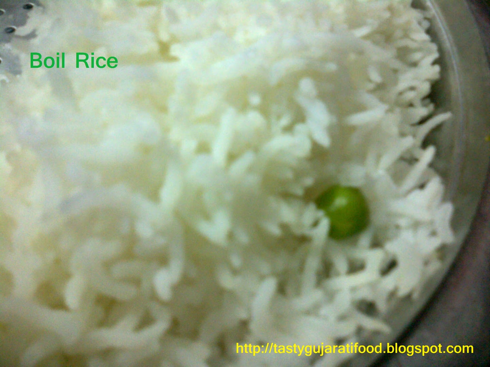 boil basmati rice in gujarati language
