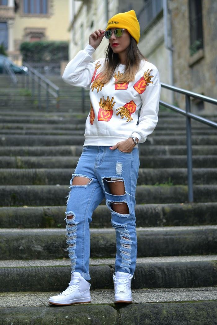moschino inspired sweatshirt