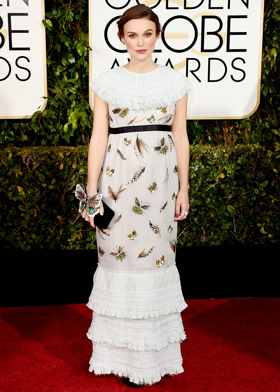 Keira Knightley en los Globos de Oro 2015