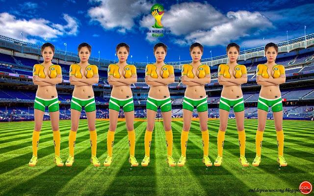 Ảnh body painting: Vũ công Samba - Brazil