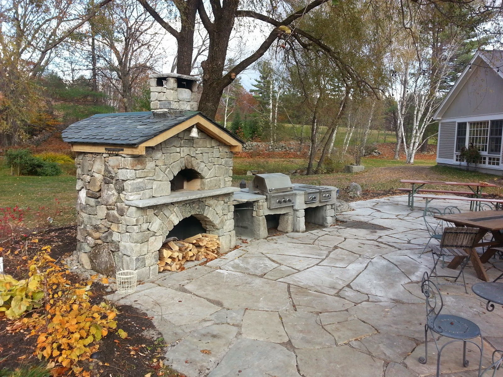 cost outdoor fireplace does how an home of backyard much