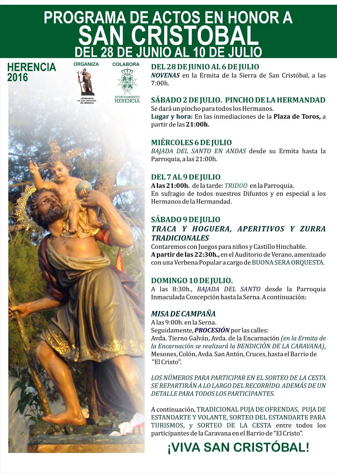 Programa de actos 2016
