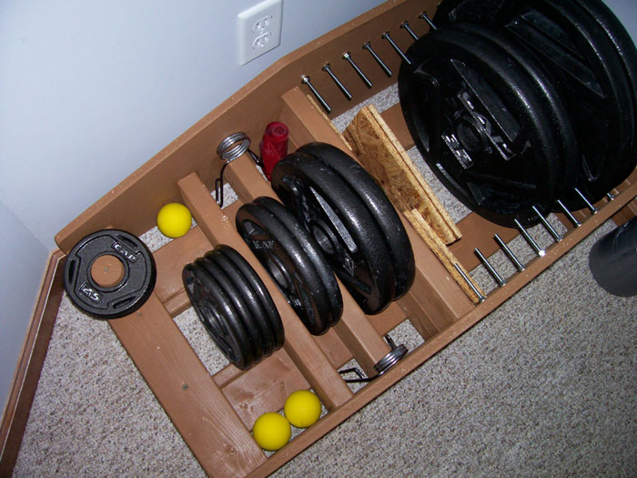 Weights lacrosse balls collars bands itu0027s an equal opportunity storage device. & Homemade Strength: Weight Storage Rack
