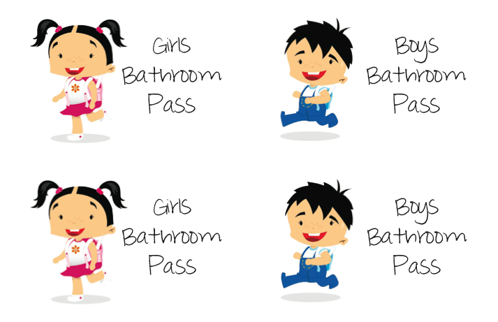 Mrs fullmer s kinders bathroom passes
