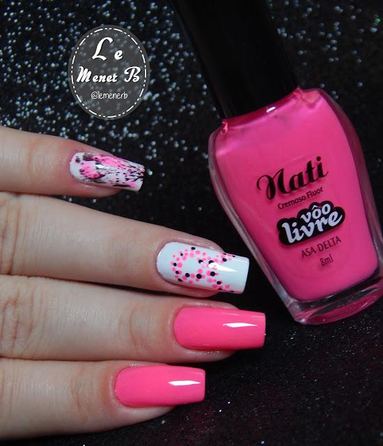 outubro rosa nail art