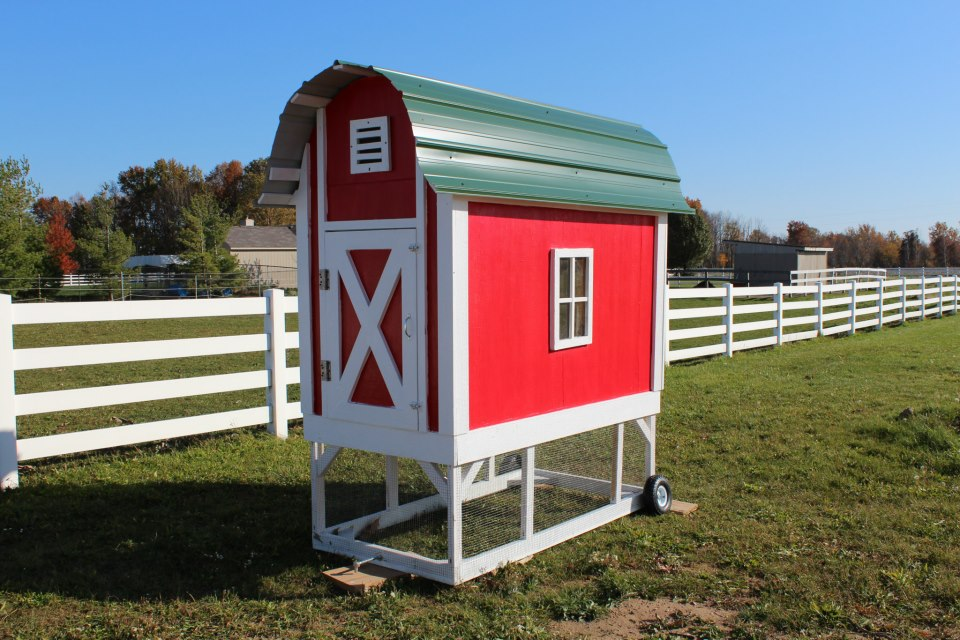 Creative country big red barn chicken coop ideas kids for Red chicken coop