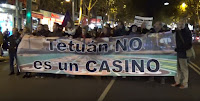 Manifestaación: Tetuán no es un casino