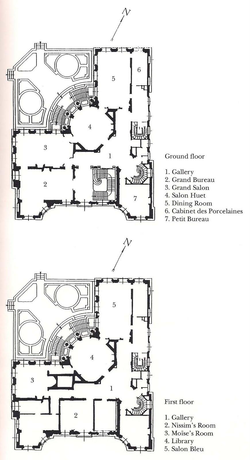 the devoted classicist camondo paris the prinicpal floor plans of the nissim de camondo museum paris