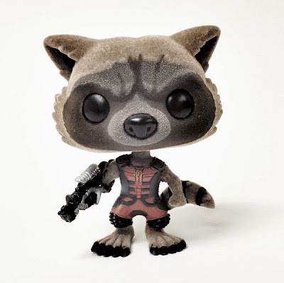 San Diego Comic-Con 2015 Exclusive Flocked Ravager Rocket Raccoon Guardians of the Galaxy Pop! Marvel Vinyl Figure by Funko