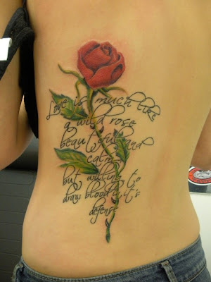 rose flower tattoo designs
