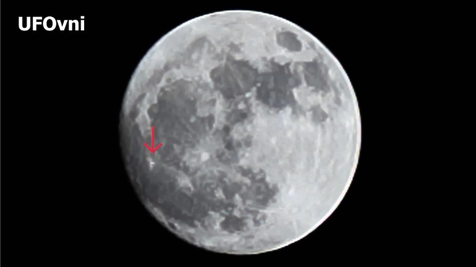 Ovni ou transitoire lunaire phénomène capturé sur le télescope, le