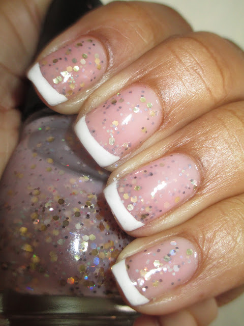Franken polish, french tip, frenchie, nail art, nail design, mani