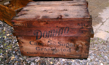Big Old Domino Sugar Crate with lid