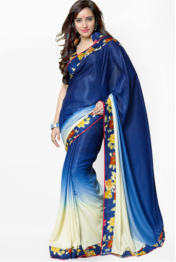 BUY  Bridal Multi Printed Saree from JABONG.COM at RS 1480 only