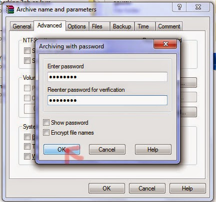 how to add password to zip file