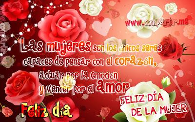 Imagen con rosas por el día de la mujer 8 de marzo