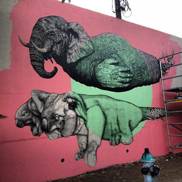La pandilla new mural in atlanta streetartnews for Atlanta mural artist