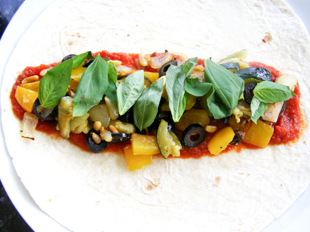 Grilled Pizza Wraps Recipe — Dishmaps