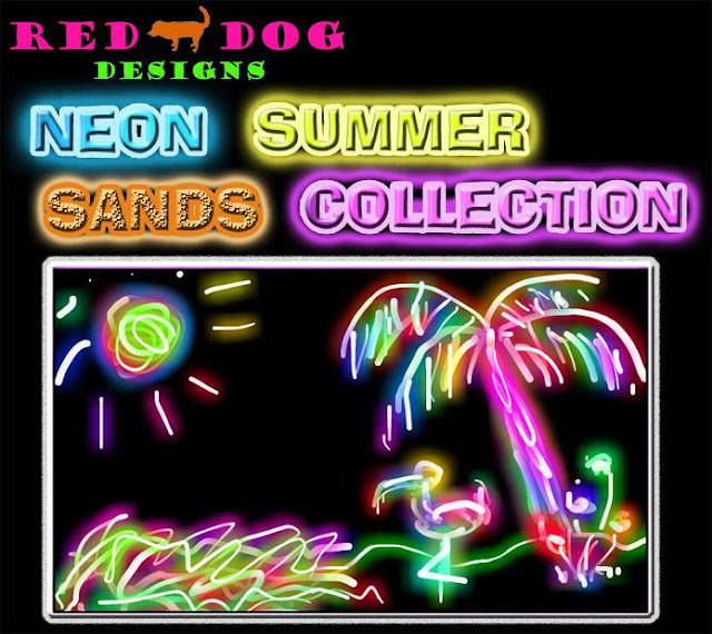 Red Dog Designs Neon Summer Sands