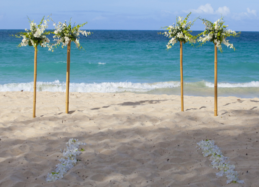 Bride 39s and grooms are always asking us about decor for the beach
