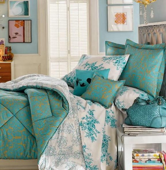 Habitaciones en turquesa y blanco - Dormitorios colores y ...