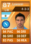 Ezequiel Lavezzi (IF3) 87 - FIFA 12 Ultimate Team Card - Orange MOTM