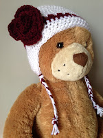 Crocheted winter hat with earflaps