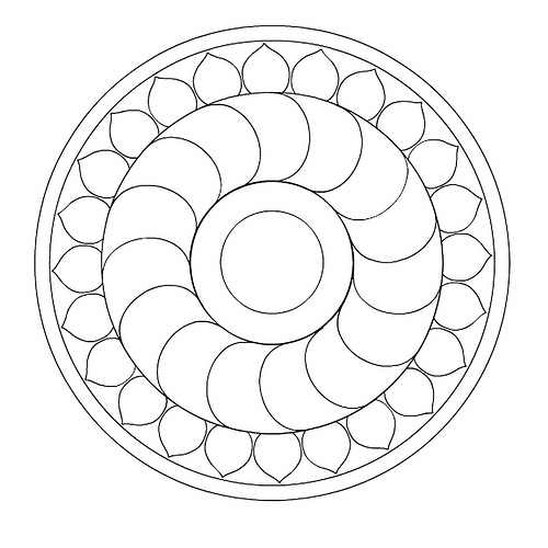 Here's a cool mandala to color! title=