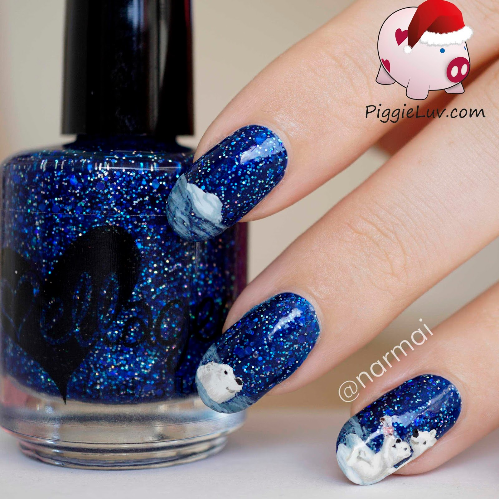 Nail Art — Coca Cola Christmas polar bears nail art
