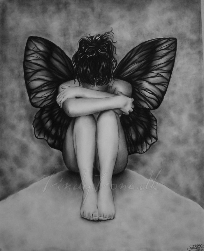 Sad Butterfly Girl