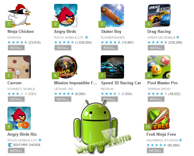 top android app games