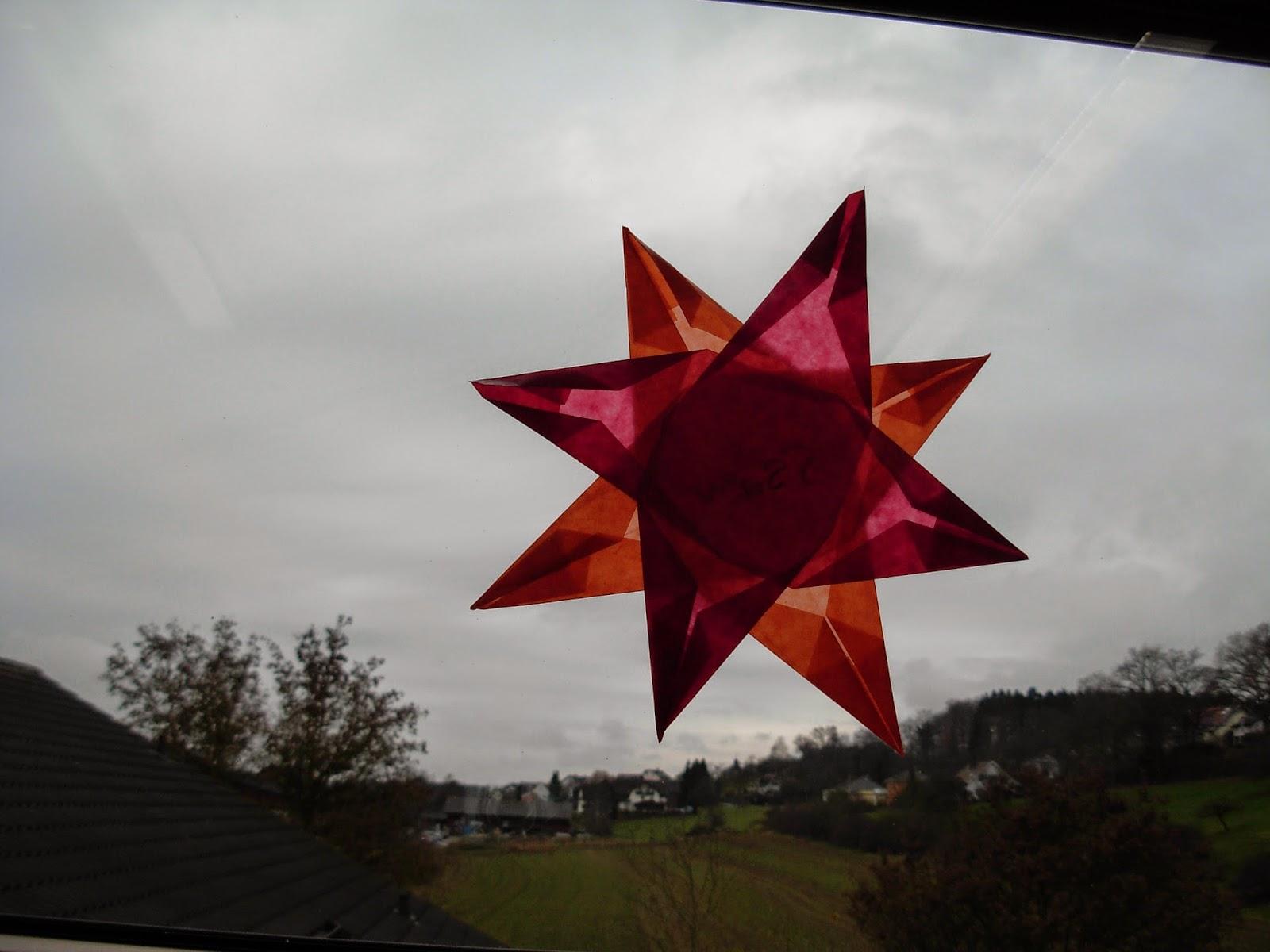 Fensterdeko Weihnachten Falten mit Kindern