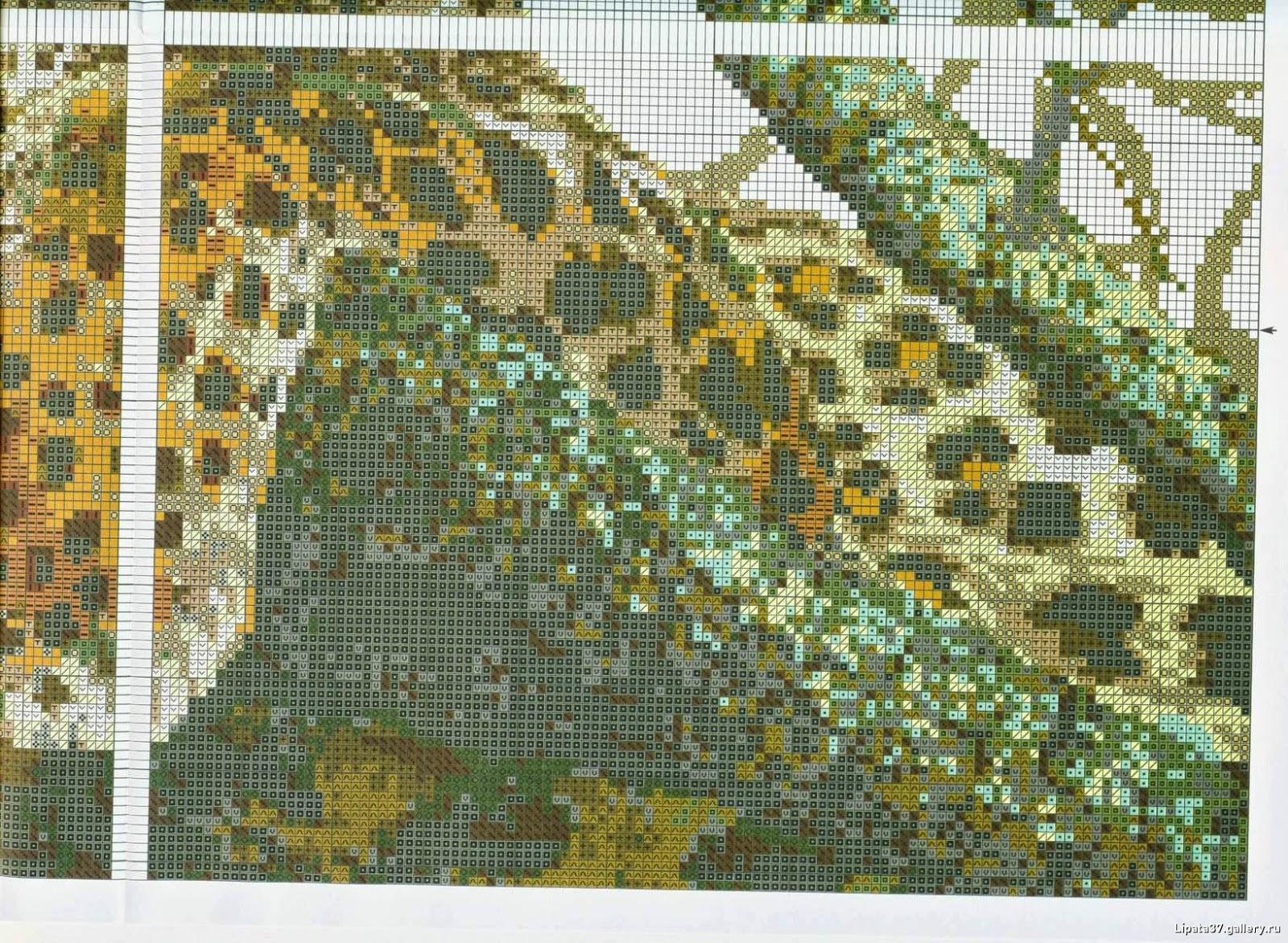 Вышивка крестом леопарды схема 31