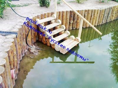 Фото берегоукрепительной линии водоема