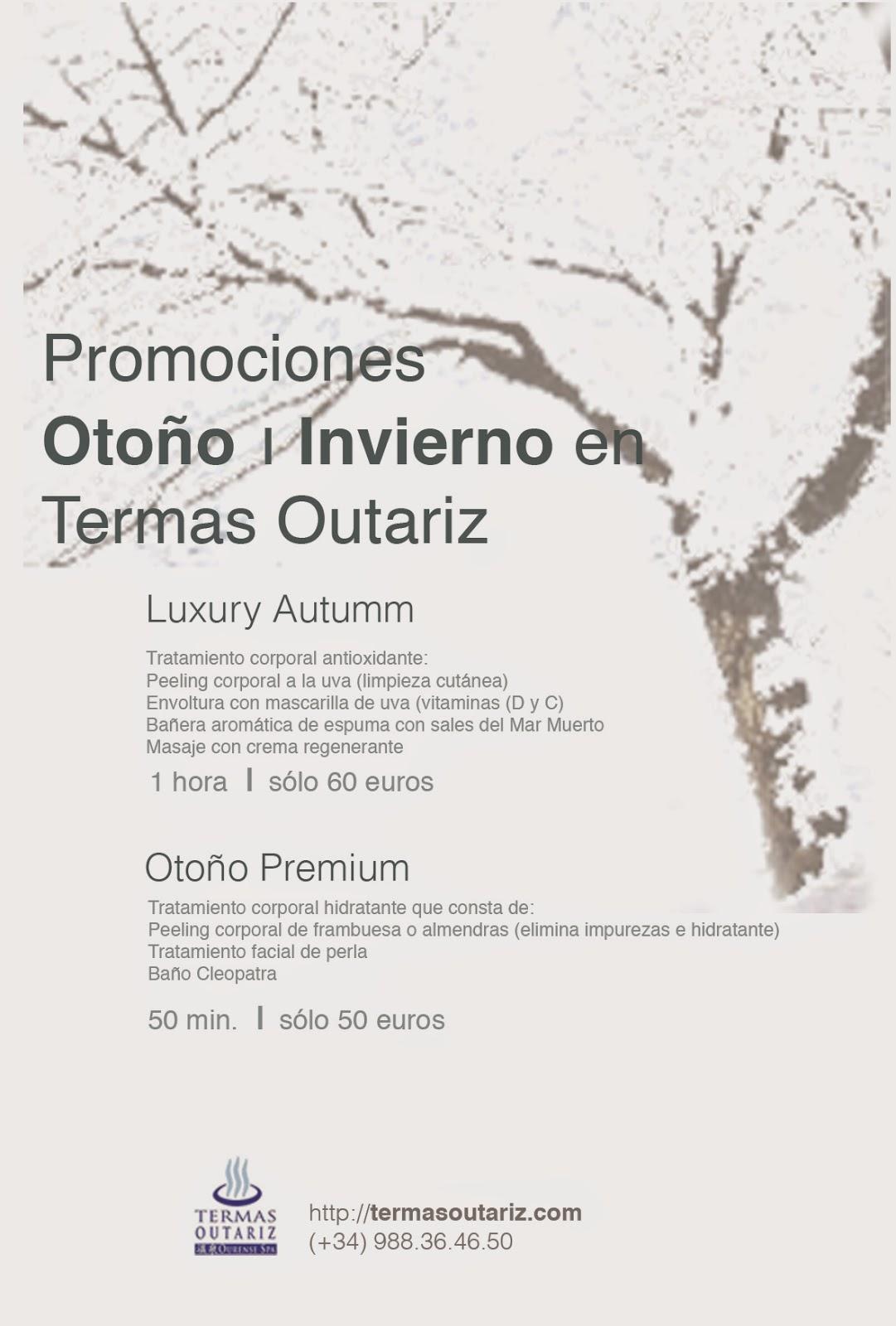 Promociones tratamientos otoño-invierno Termas Outariz, Ourense