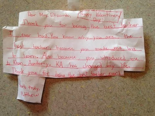student thank you note