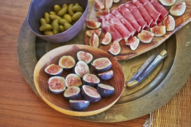 Italian Aperitivo Capollo black mission figs lucques olives