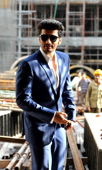 Dashing Actor Arjun Kapoor at Aurangzeb Press Conference