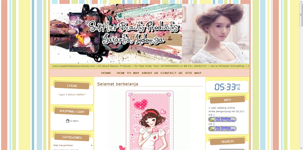 Supplier Beauty , polisi online