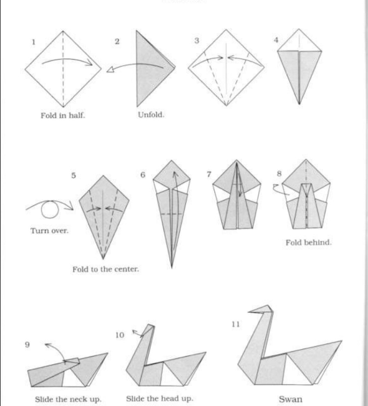 tutorial origami angsa