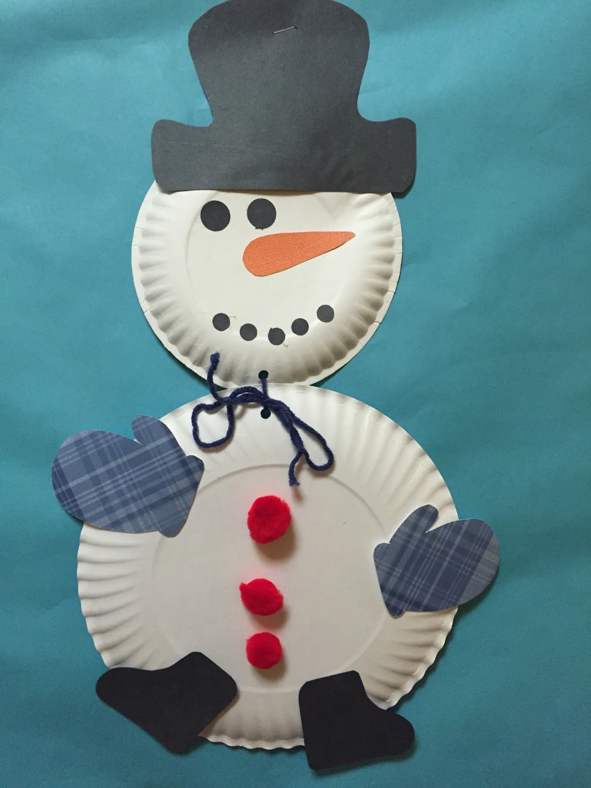 In January we also learn about all different kinds of WINTER animals such as polar bears penguins walrusu0027 and red robins. We made a lot of fun crafts ... : snowman made out of paper plates - pezcame.com