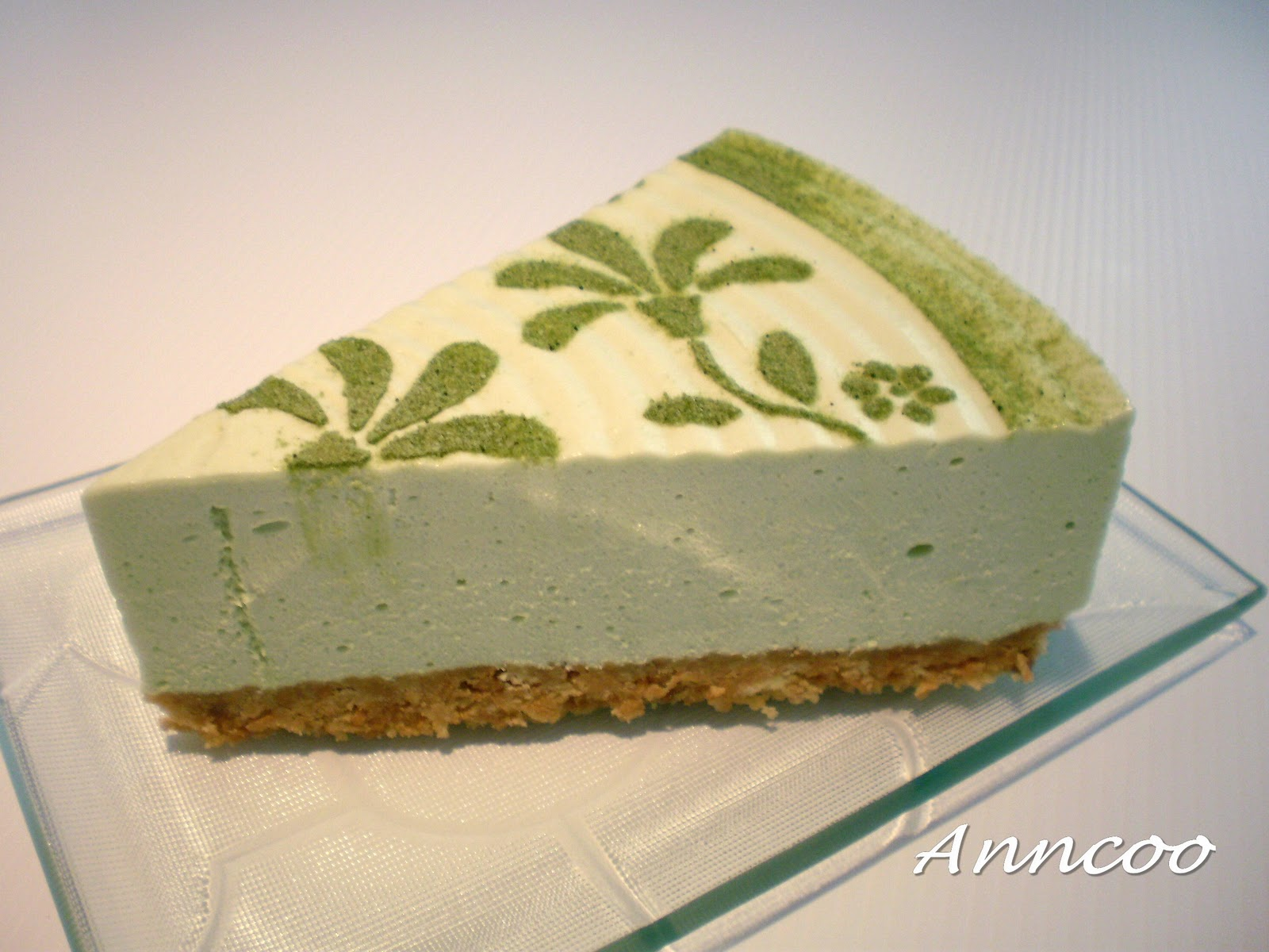 Green Tea Cheesecake nonbake Anncoo Journal