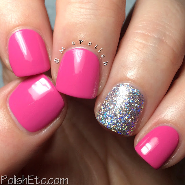 Serendipity Nail Polish - Coastal Christmas Collection - McPolish - Pink Poinsettia and Holo-Day Lights